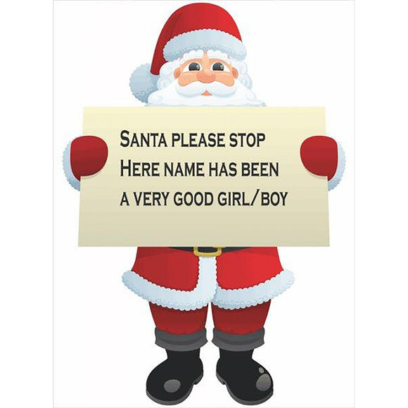 Santa Claus Cut Out with Your Message 🎅