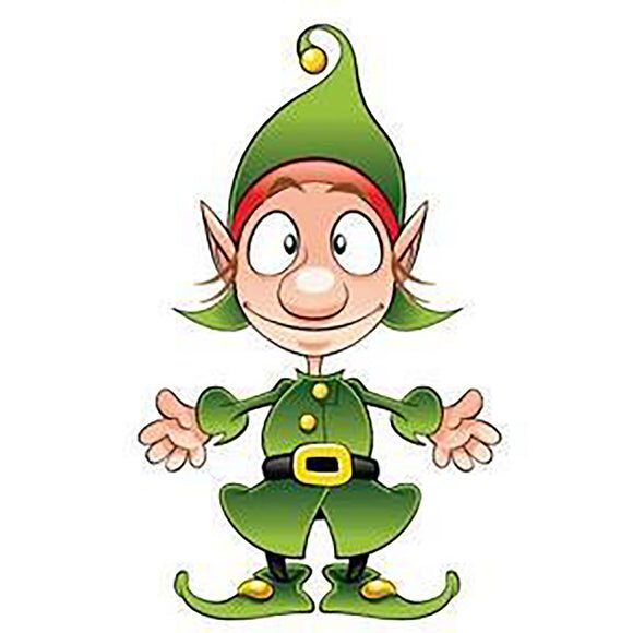 Cut Out Elf Sign