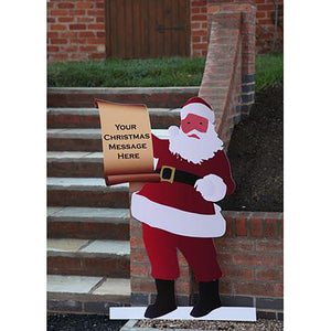 Santa with your Christmas Scroll Message 🎅📜