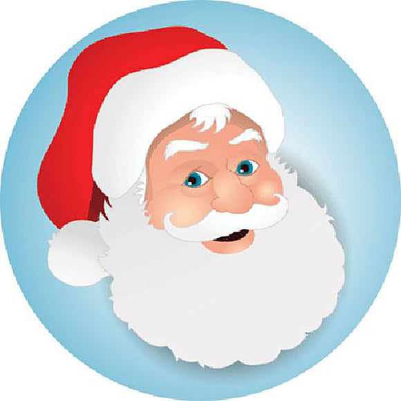 Santa Claus Round Cut Out Sign 🎅