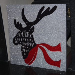 Glitter Acrylic Reindeer [OR A PHOTOGRAPH OF YOUR CHOICE!]