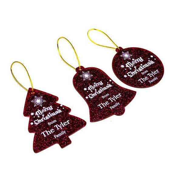 Christmas Tree Decoration - Personalised