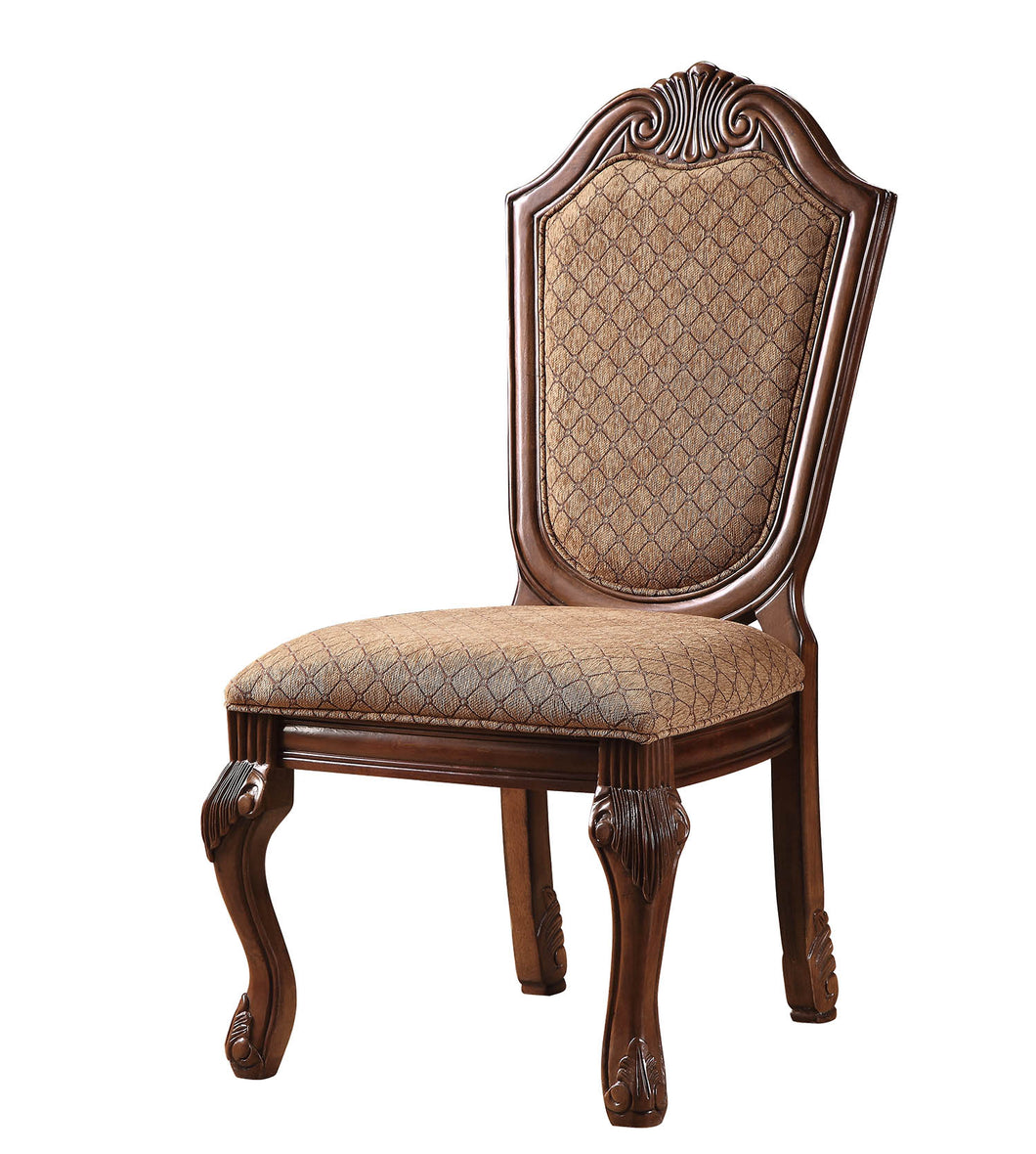 Chateau De Ville Fabric & Cherry Side Chair image