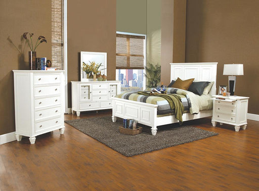 Sandy Beach White Queen Four-Piece Bedroom Set image