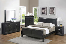 Load image into Gallery viewer, Louis Philippe Traditional Black Four-Piece Queen Bedroom Set