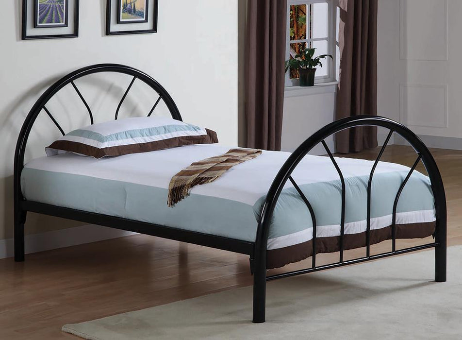 Transitional Black Twin Bed image
