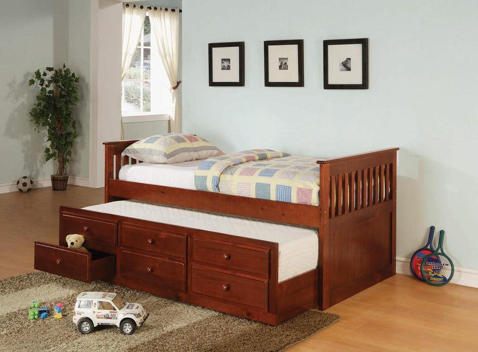 Transitional Cherry Twin Daybed image