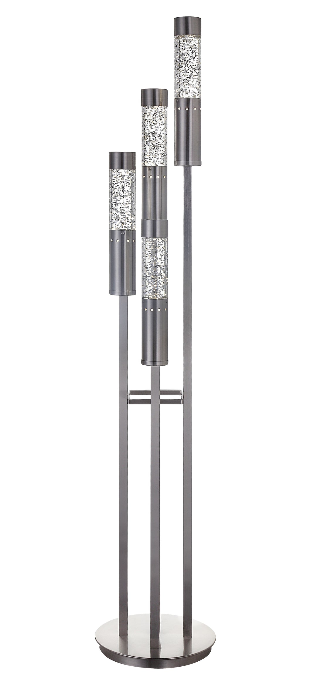 Claus Brushed Nickel Floor Lamp image