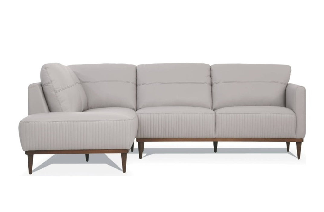 Acme Tampa Sectional Sofa in Pearl Gray 54990 image