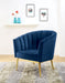 Colla Midnight Blue Velvet & Gold Accent Chair image