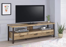 "Load image into Gallery viewer, Rustic Weathered Pine 71"" TV Console"