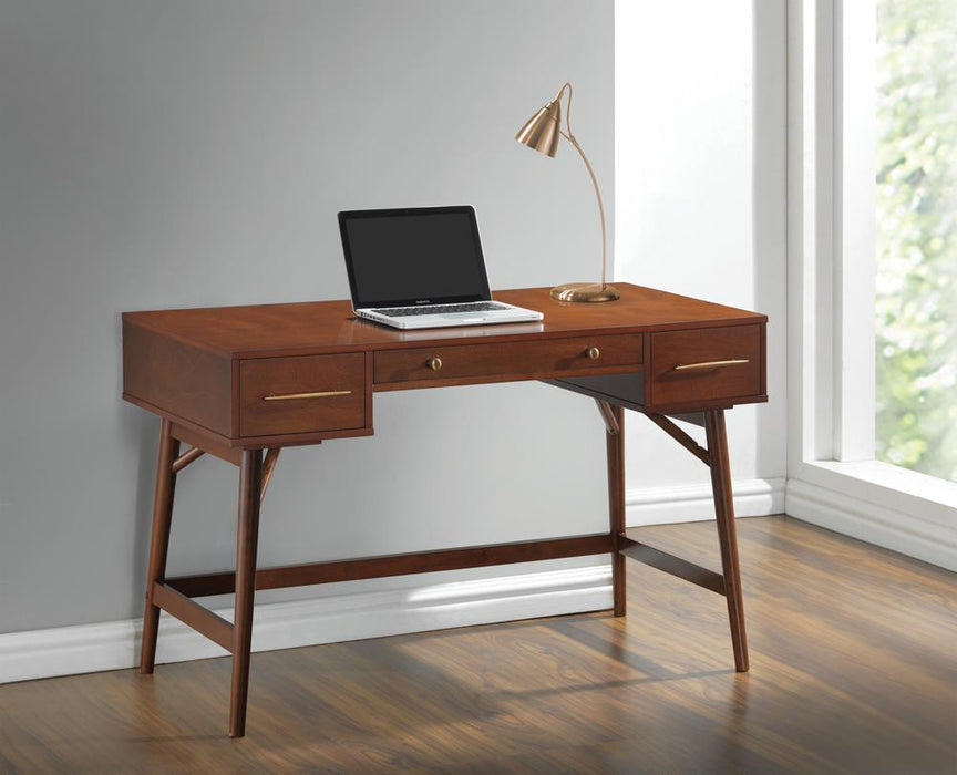 Transitional Walnut Writing Desk image