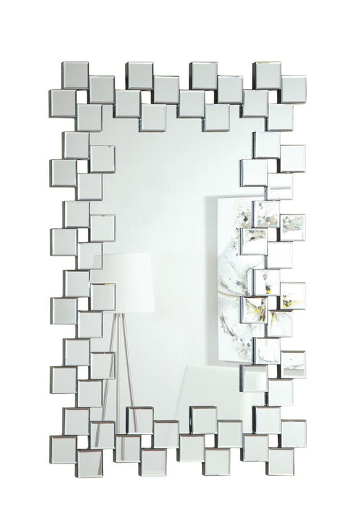 G901838 Contemporary Frameless Clear Mirror image