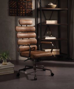 Calan Retro Brown Top Grain Leather Office Chair image