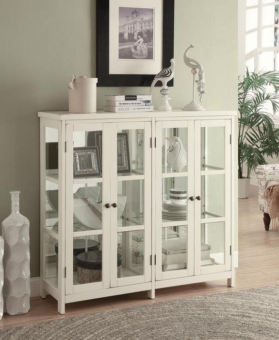 Transitional White Accent Cabinet image
