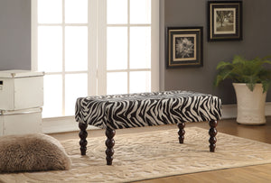 Alysha Zebra Fabric Bench image
