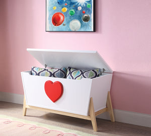 Padma White & Red Youth Chest image