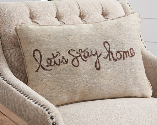 Lets Stay Home Signature Design by Ashley Pillow Set of 4 image