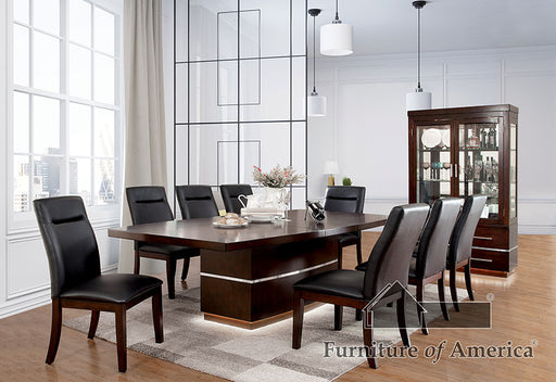 LAWRENCE Dark Cherry 7 Pc. Dining Table Set image