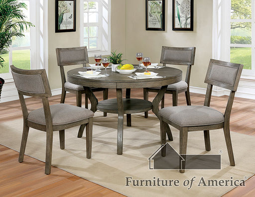 Leeds Gray 5 Pc. Round Dining Table Set image