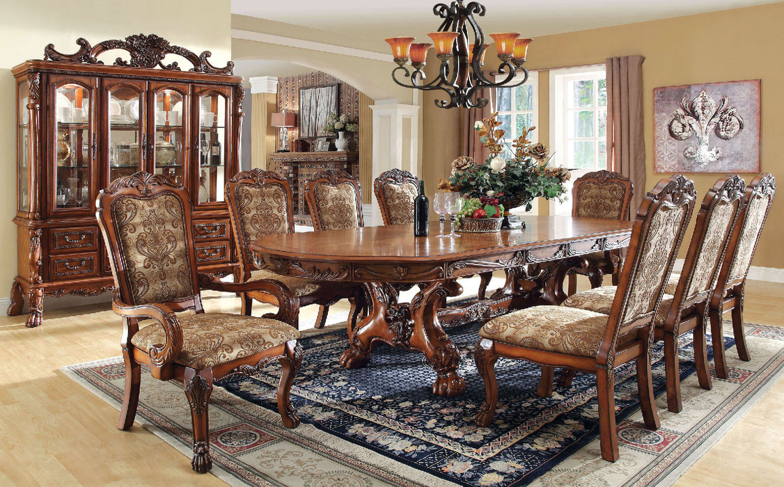Medieve Antique Oak 7 Pc. Dining Table Set (2AC+4SC) image