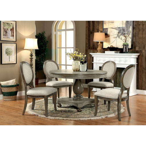 Kathryn Rustic Dark Oak Round Dining Table, Rustic Oak image
