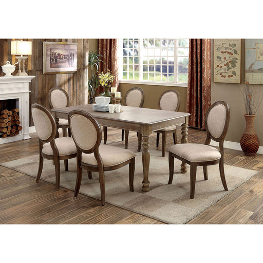 Kathryn Rustic Dark Oak Dining Table, Rustic Oak image
