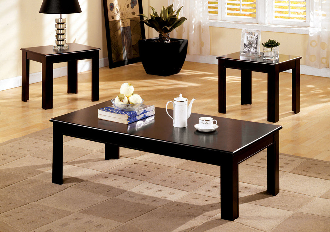 Town Square I Espresso 3 Pc. Table Set, Espresso