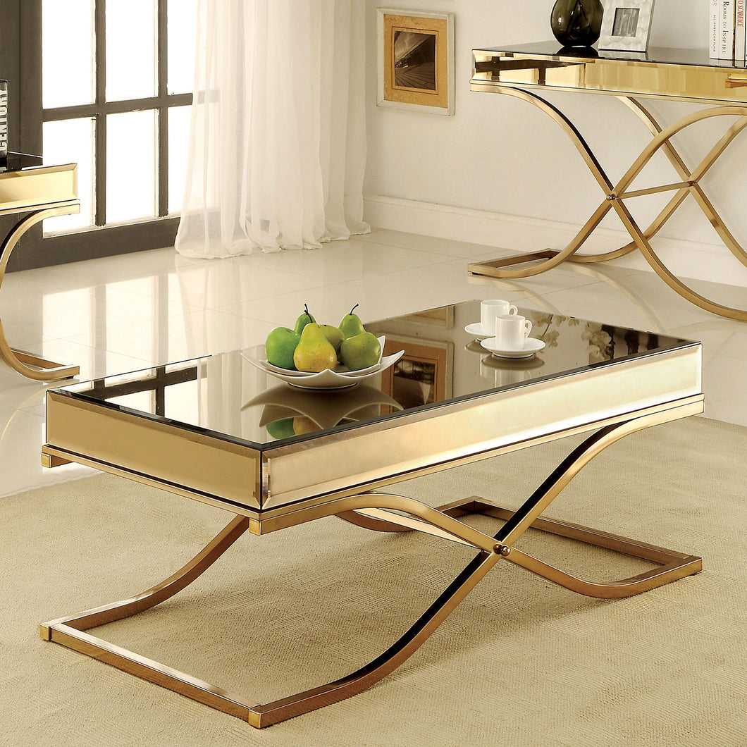 SUNDANCE Brass Coffee Table, Brass