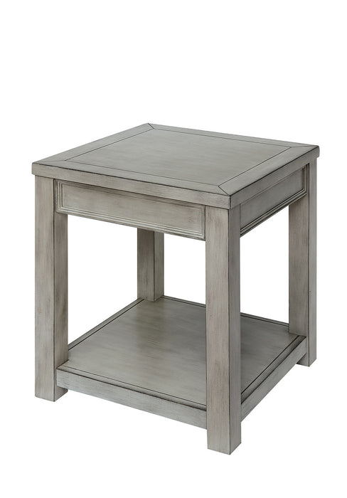 Meadow Antique White End Table image