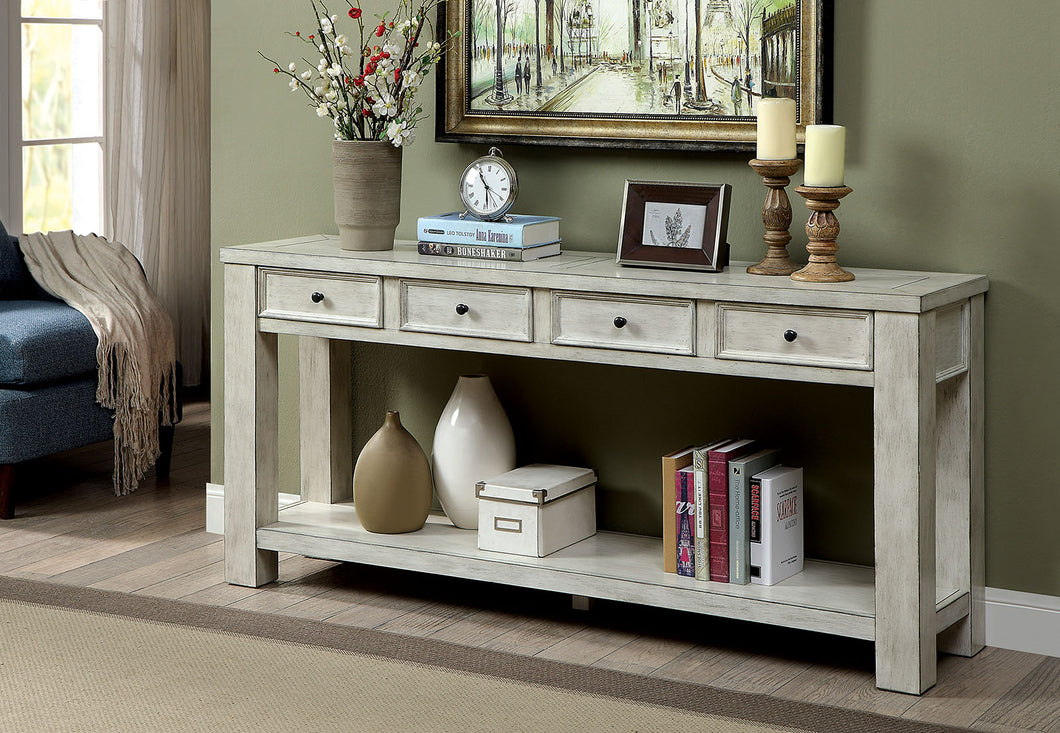 Meadow Antique White Sofa Table