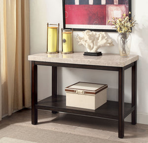 Calgary Dark Walnut/Ivory Sofa Table