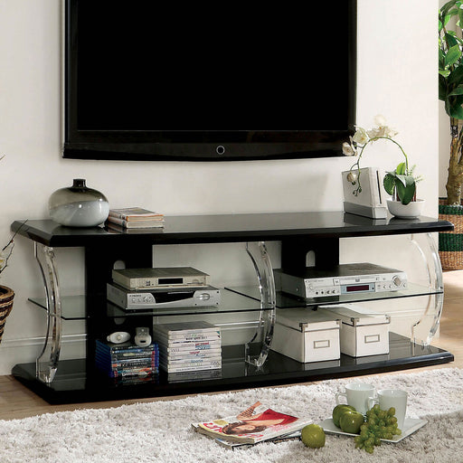 "Ernst Black/Clear 60"" TV Stand image"
