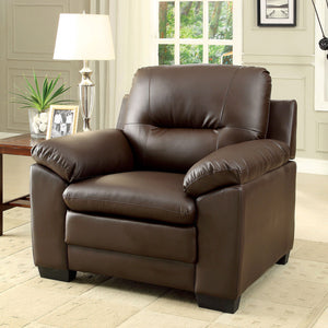 PARMA Brown Single Chair, Brown