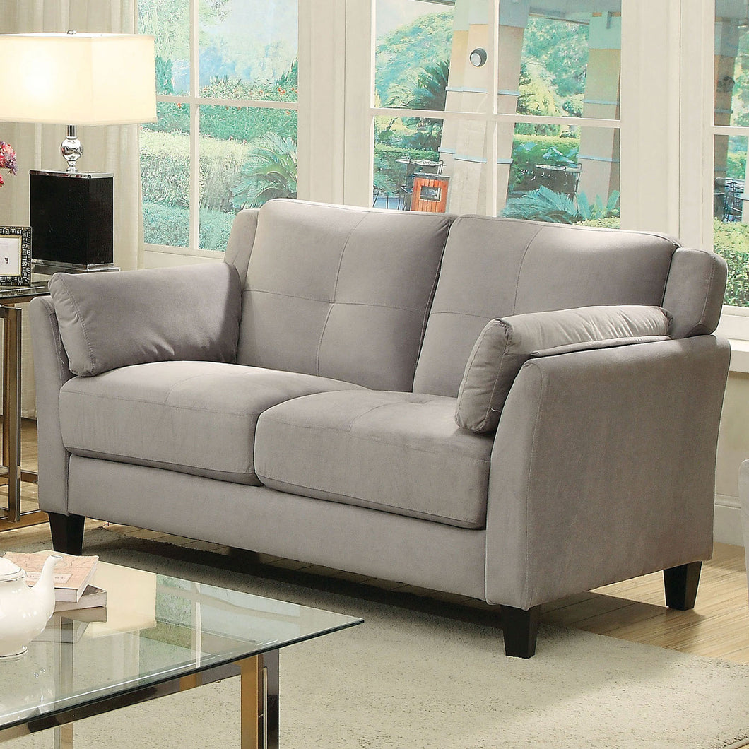 YSABEL Warm Gray Love Seat, Warm Gray (K/D)