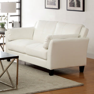 Pierre White Love Seat, White (K/D)
