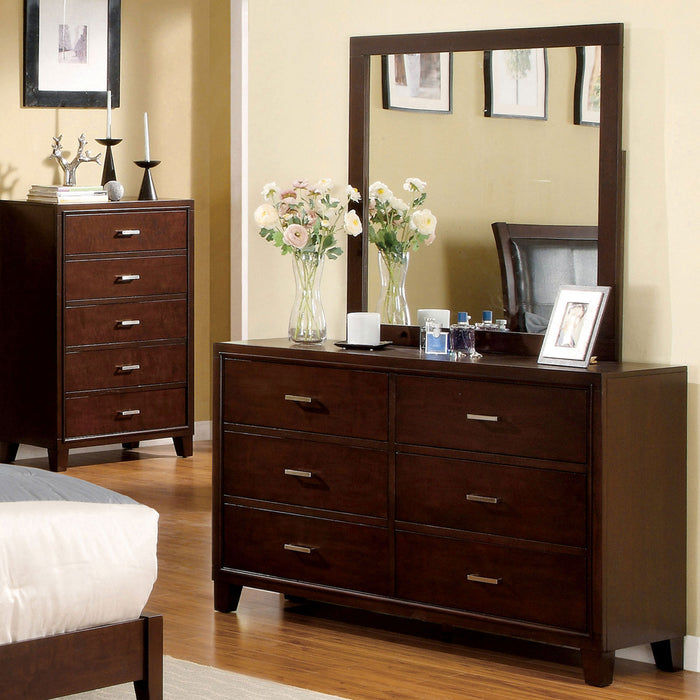Gerico II Brown Cherry Dresser image