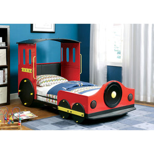 Retro Express Red/Black Twin Bed