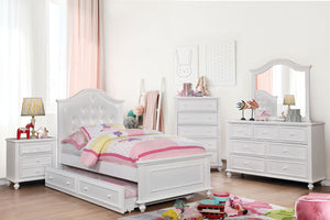 OLIVIA White 4 Pc. Full Bedroom Set