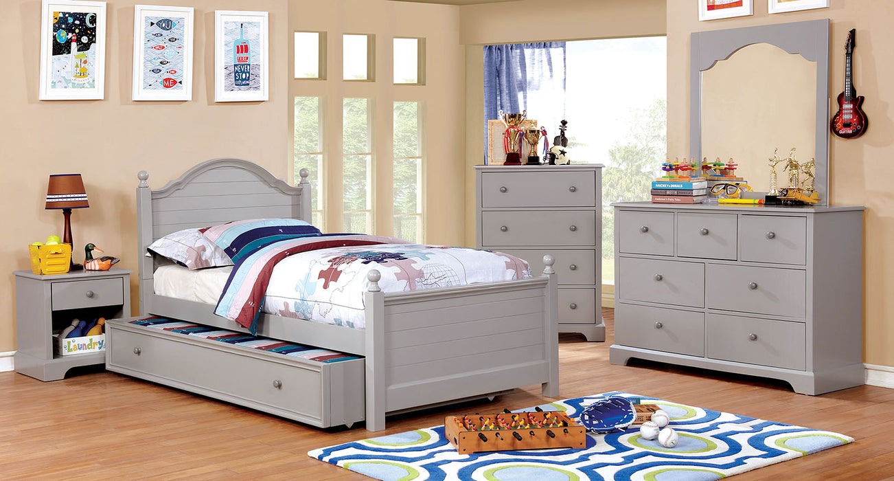 Diane Gray 4 Pc. Full Bedroom Set w/ Trundle image