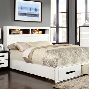 RUTGER White/Black Full Bed
