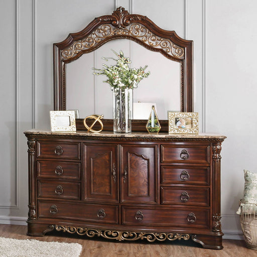 Menodora Brown Cherry Dresser image