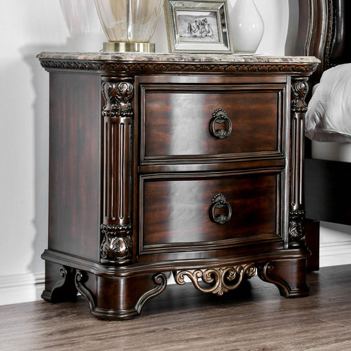Menodora Brown Cherry Night Stand image