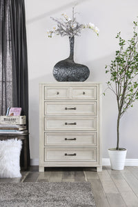 Tywyn Antique White Chest