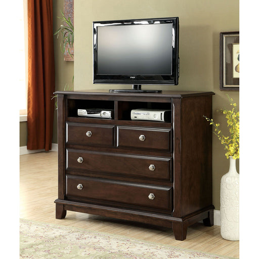 Litchville Brown Cherry Media Chest image