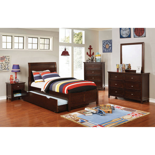 Brogan Brown Cherry 4 Pc. Twin Bedroom Set image