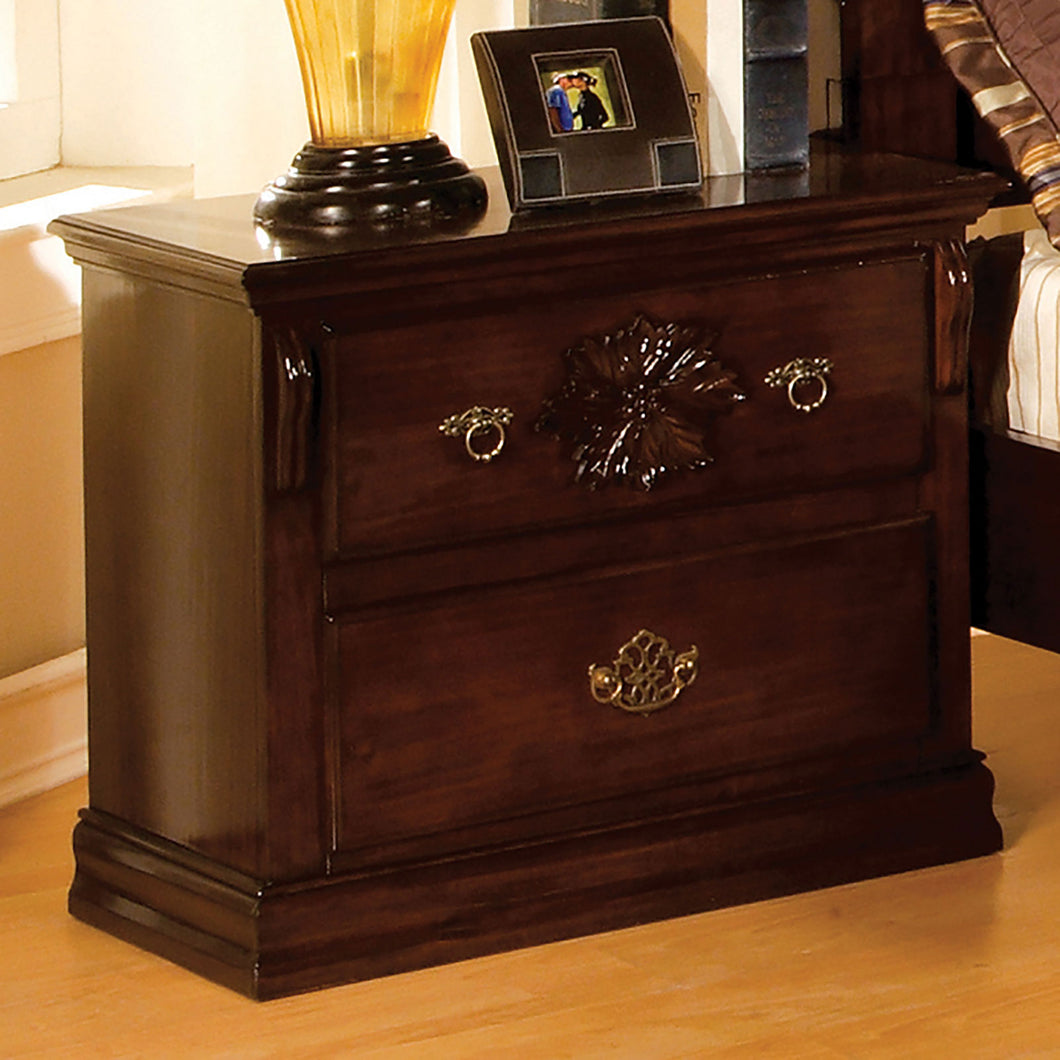 Tuscan II Glossy Dark Pine Night Stand