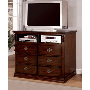 Tuscan II Glossy Dark Pine Media Chest