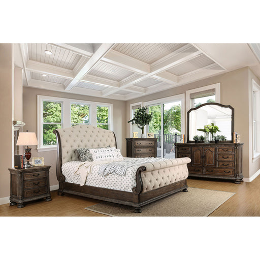 LYSANDRA Beige/Rustic Natural Tone E.King Bed image