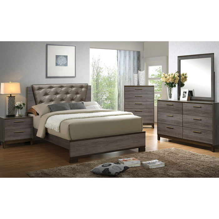 MANVEL Two-Tone Antique Gray 4 Pc. Queen Bedroom Set image